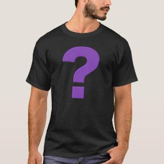 疑門符、紫色、Tシャツ Tシャツ
