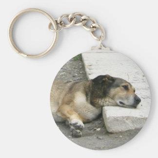 疲れた犬のキーホルダーは、カスタマイズ キーホルダー
