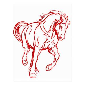 疾走するばん馬 ポストカード