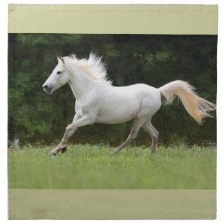疾走する白馬 ナプキンクロス