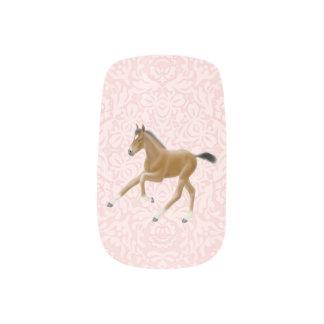 疾走する馬の子馬のMinxのネイルシール ネイルデコレーション