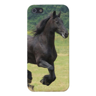 疾走するFriesianの馬 iPhone 5 カバー