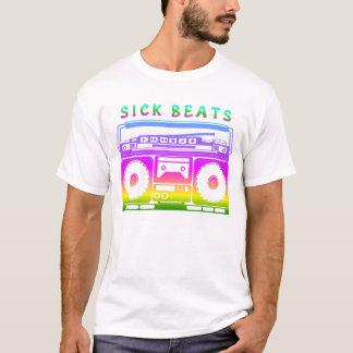 病人はステレオのステンシルを打ちます Tシャツ