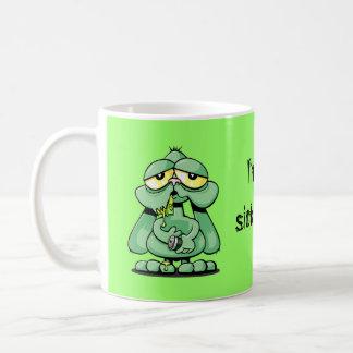 病気のバニーのマグ コーヒーマグカップ
