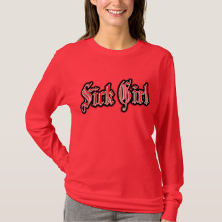 病気の女の子のパンクの病気の女の子のパンクロック音楽 Tシャツ