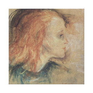 病気の子供1885年 キャンバスプリント