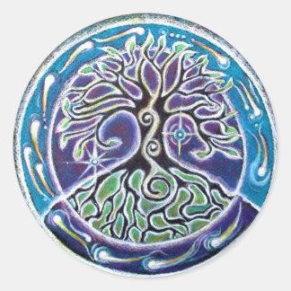 病気曼荼羅生命の樹 ラウンドシール