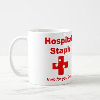 病院のぶどう球菌(赤く及び白い) コーヒーマグカップ
