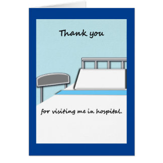 病院の訪問をノートありがとう カード