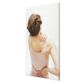 痛む女性の摩擦 キャンバスプリント