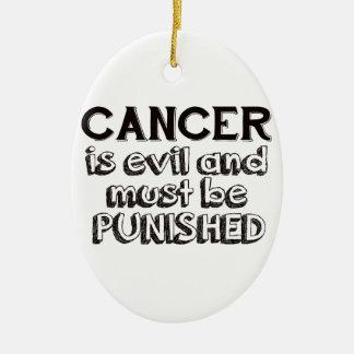 癌のデザイン セラミックオーナメント