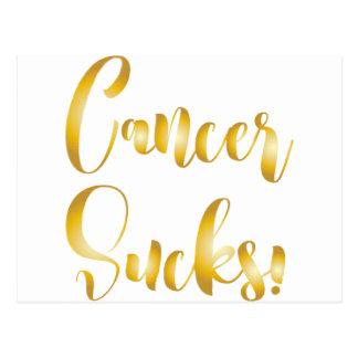 癌の最低の金ゴールドの空想のフォント ポストカード