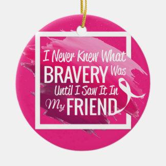 癌を持つ勇敢な友人のための勇気付けられるの単語 セラミックオーナメント