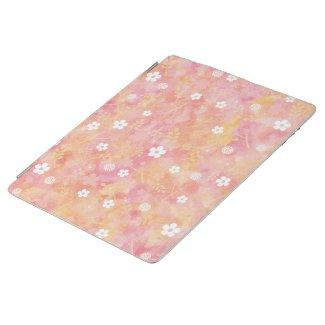 癒やしと愛の花柄模様 iPad カバー
