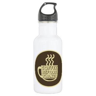発声映画、コーヒーワイシャツ、コーヒーの前のコーヒー ウォーターボトル