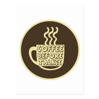 発声映画、コーヒーワイシャツ、コーヒープロダクトの前のコーヒー ポストカード