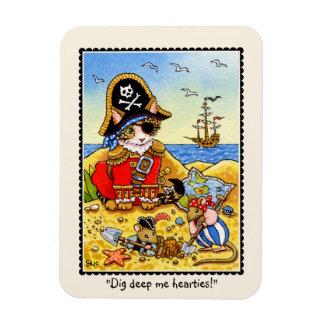 発掘の深い私hearties! 海賊猫のマウスの磁石 マグネット