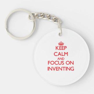 発明の平静そして焦点を保って下さい キーホルダー