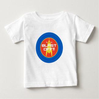 発破を掛けて下さい!! レトロの空想科学小説の宇宙ロケット ベビーTシャツ