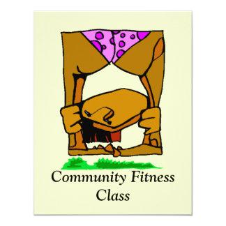 発表はフィットネスの好気性のクラスを発表します カード