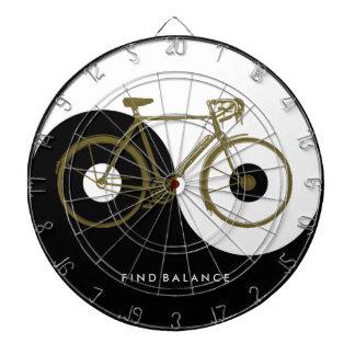 発見のバランス/陰陽の自転車 ダーツボード