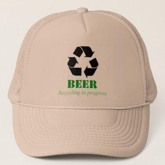 発言をリサイクルするおもしろいなビールが付いている帽子 キャップ