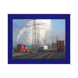 発電所の汚染6 キャンバスプリント