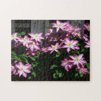登山のクレマチスの春の花 ジグソーパズル