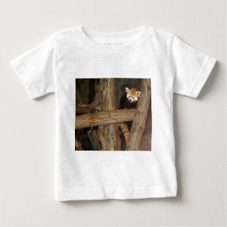 登山のパンダの乳児のTシャツ ベビーTシャツ