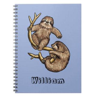 登山の怠惰の名前入りなノート ノートブック