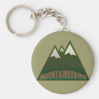 登山者、山のスタイル キーホルダー