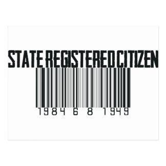 登録されている国家 ポストカード