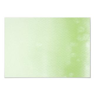 登録カード:: 青リンゴ色のグラデーションな水彩画 カード