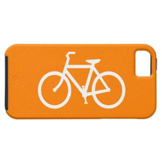 白いおよびオレンジバイク iPhone SE/5/5s ケース