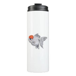 白いおよびオレンジOrandaの金魚のアクアリウムペット魚 タンブラー