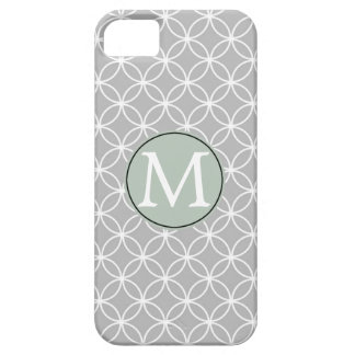 白いおよび灰色の円 iPhone SE/5/5s ケース