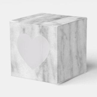 白いおよび灰色の大理石の質パターン フェイバーボックス