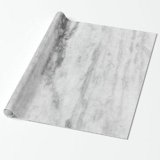 白いおよび灰色の大理石の質パターン ラッピングペーパー