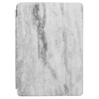 白いおよび灰色の大理石の質パターン iPad AIR カバー