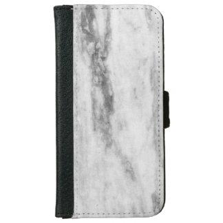 白いおよび灰色の大理石の質パターン iPhone 6 ウォレットケース