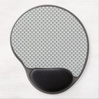 白いおよび灰色カーボン繊維のグラファイト ジェルマウスパッド