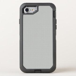 白いおよび灰色カーボン繊維ポリマー オッターボックスディフェンダーiPhone 8/7 ケース