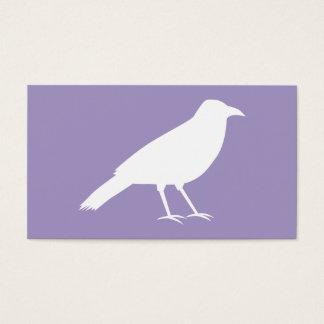 白いおよび紫色のカラスの設計 名刺