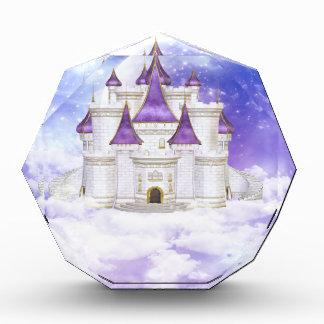 白いおよび紫色の城 表彰盾