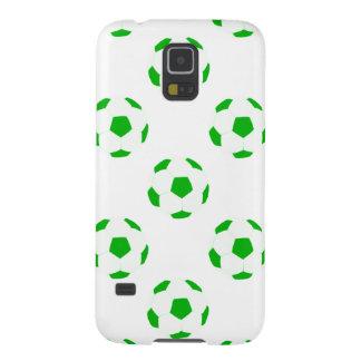 白いおよび緑のサッカーボールパターン GALAXY S5 ケース