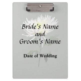 白いくものミイラの結婚式プロダクト クリップボード