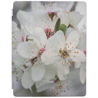 白いさくらんぼの花柄 iPadスマートカバー
