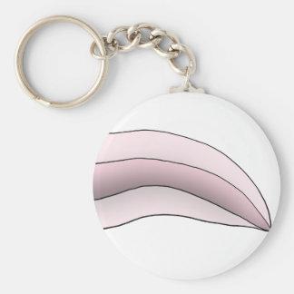 白いですかピンクのアホロートルの尾 キーホルダー