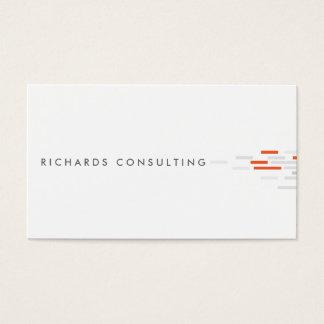 白いの技術的なパターン、灰色、オレンジ 名刺