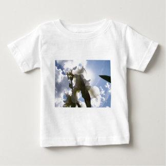 白いアイリス ベビーTシャツ